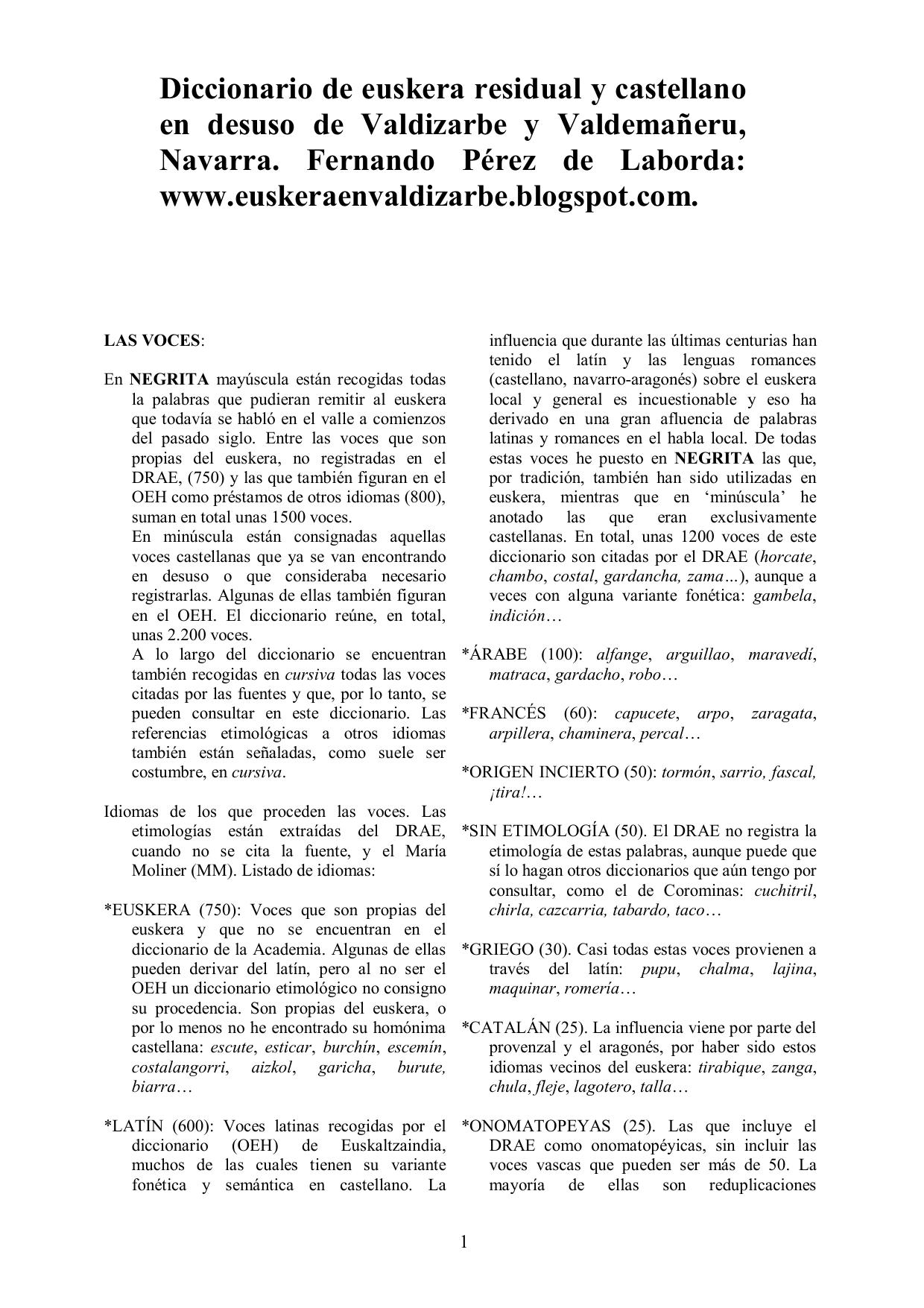 Diccionario de euskera residual y castellano en desuso de  7e8deb0ac7f4a
