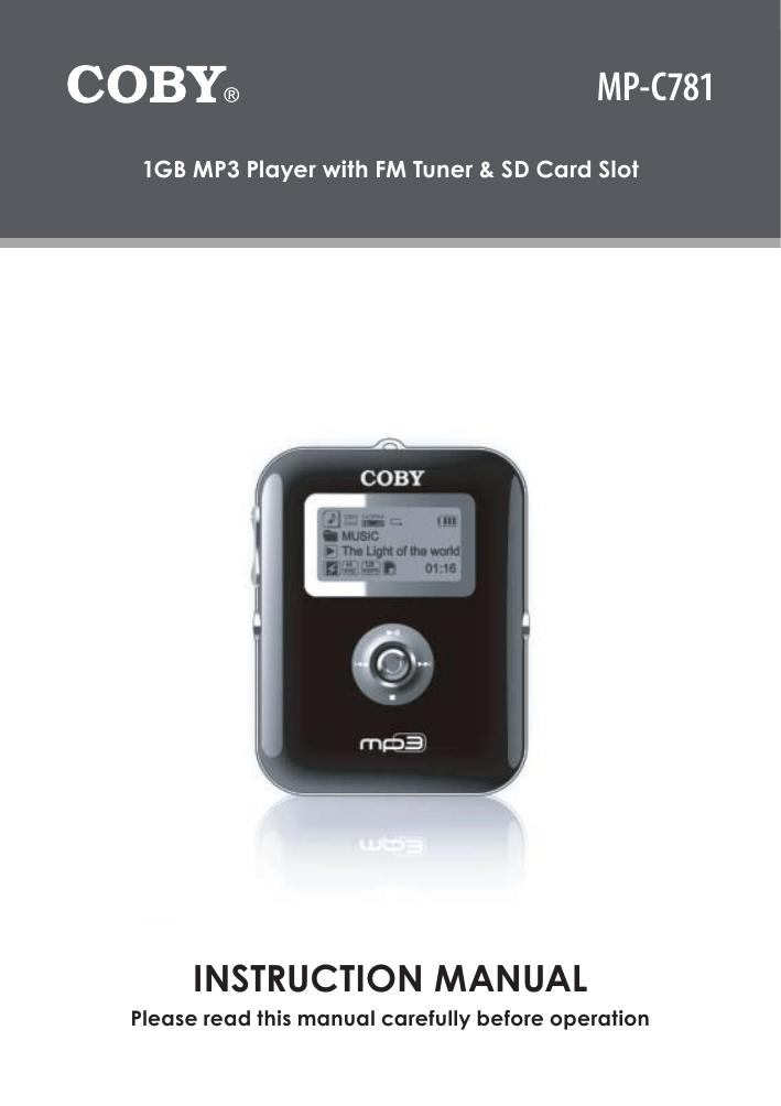 coby mp c781 instruction manual manualzz com rh manualzz com Coby MP3 Player Parts Coby MP3 Player Support