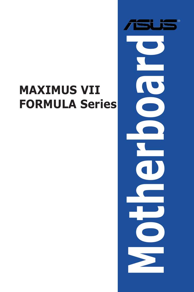Asus Maximus VII Formula Series System information