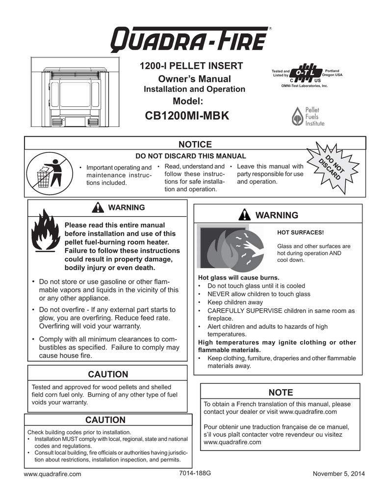 Quadra Fire Pellet Stove Schematic Quadrafire Wiring Diagram Insert Mi Owners Manual 791x1024