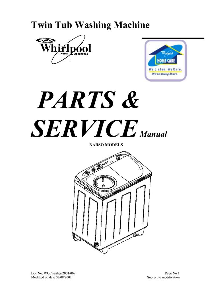 Whirlpool TWIN PLUS User manual | Manualzz | Twin Tub Washing Machine Wiring Diagram |  | manualzz