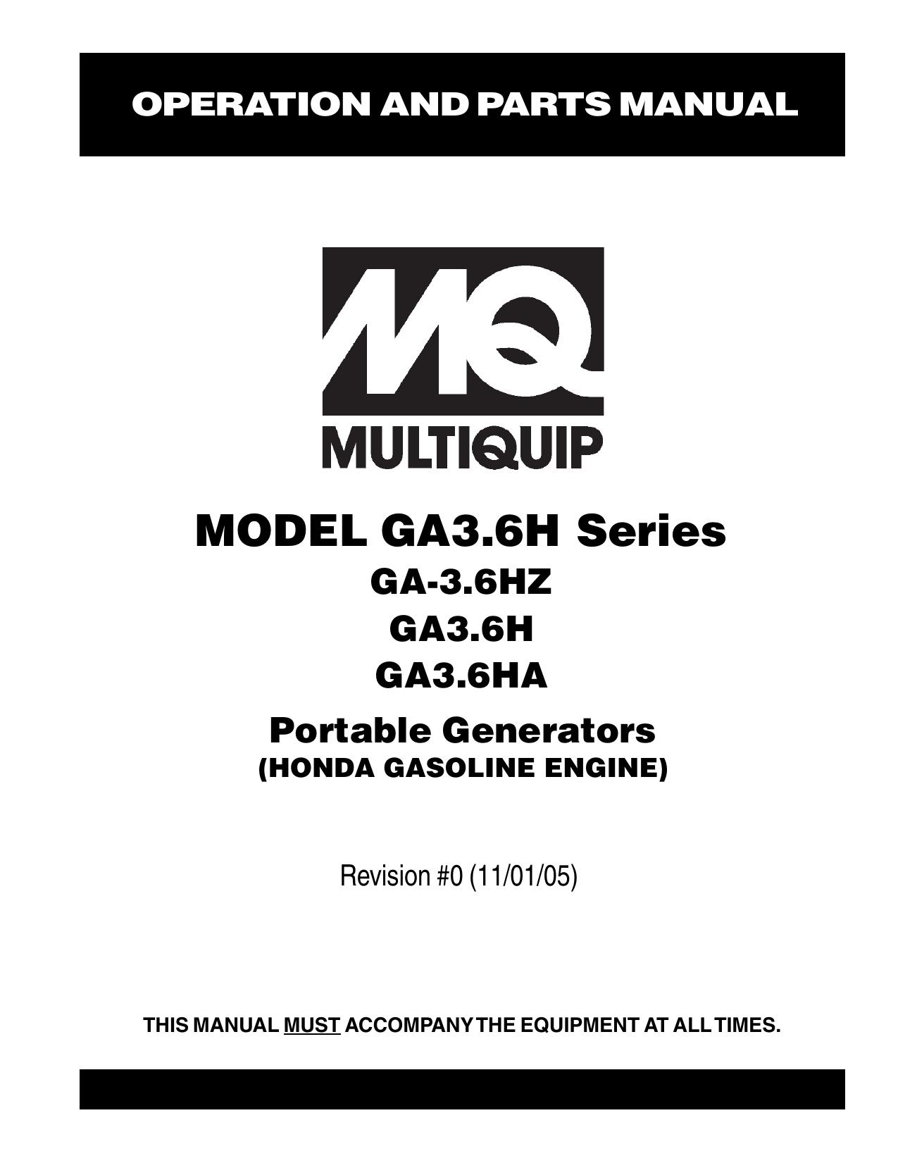 Multiquip Generator Wiring Diagram