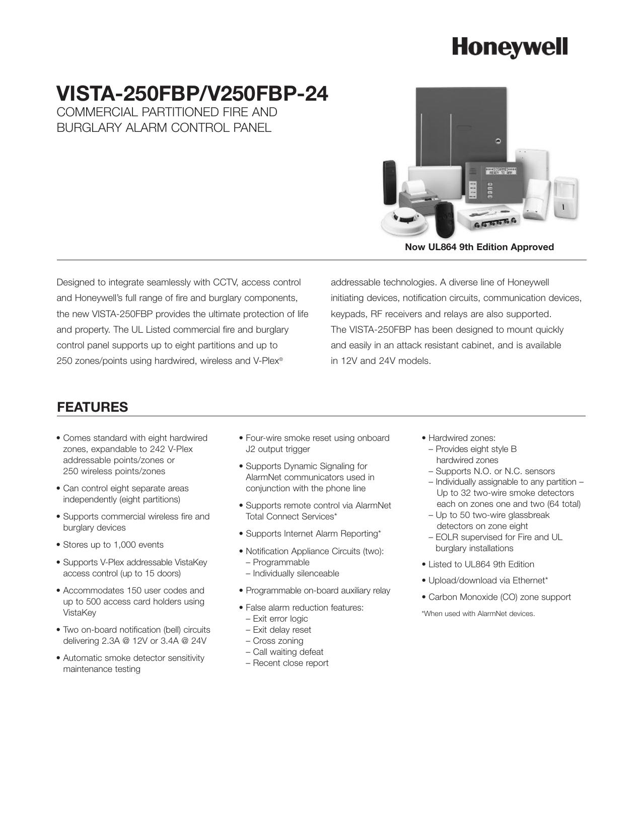 VISTA-250FBP Data Sheet | manualzz com
