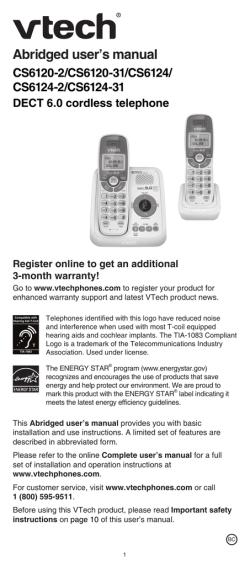 vtech answering machine user manual