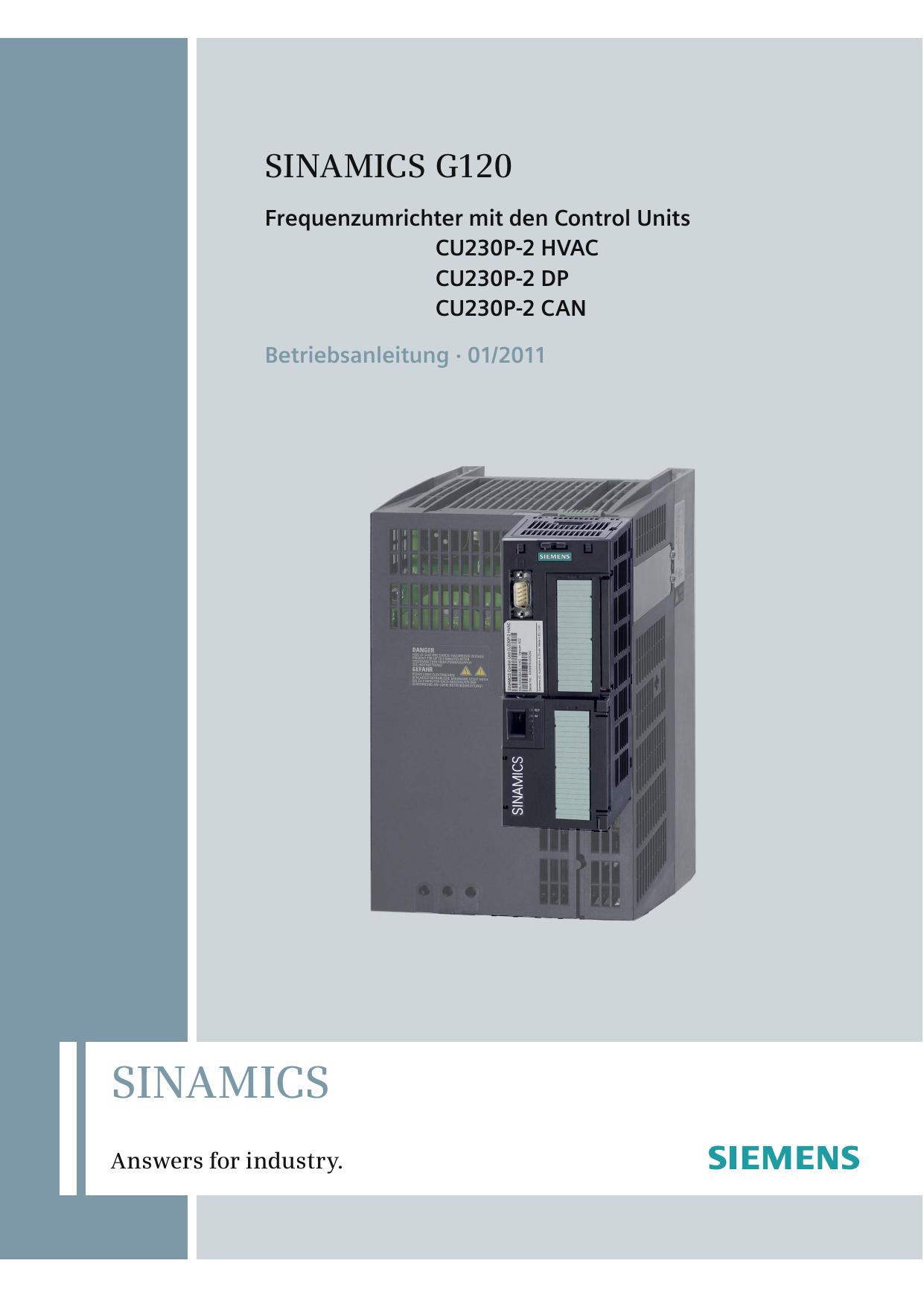 Betriebsanleitung Frequenzumrichter G120P | manualzz.com