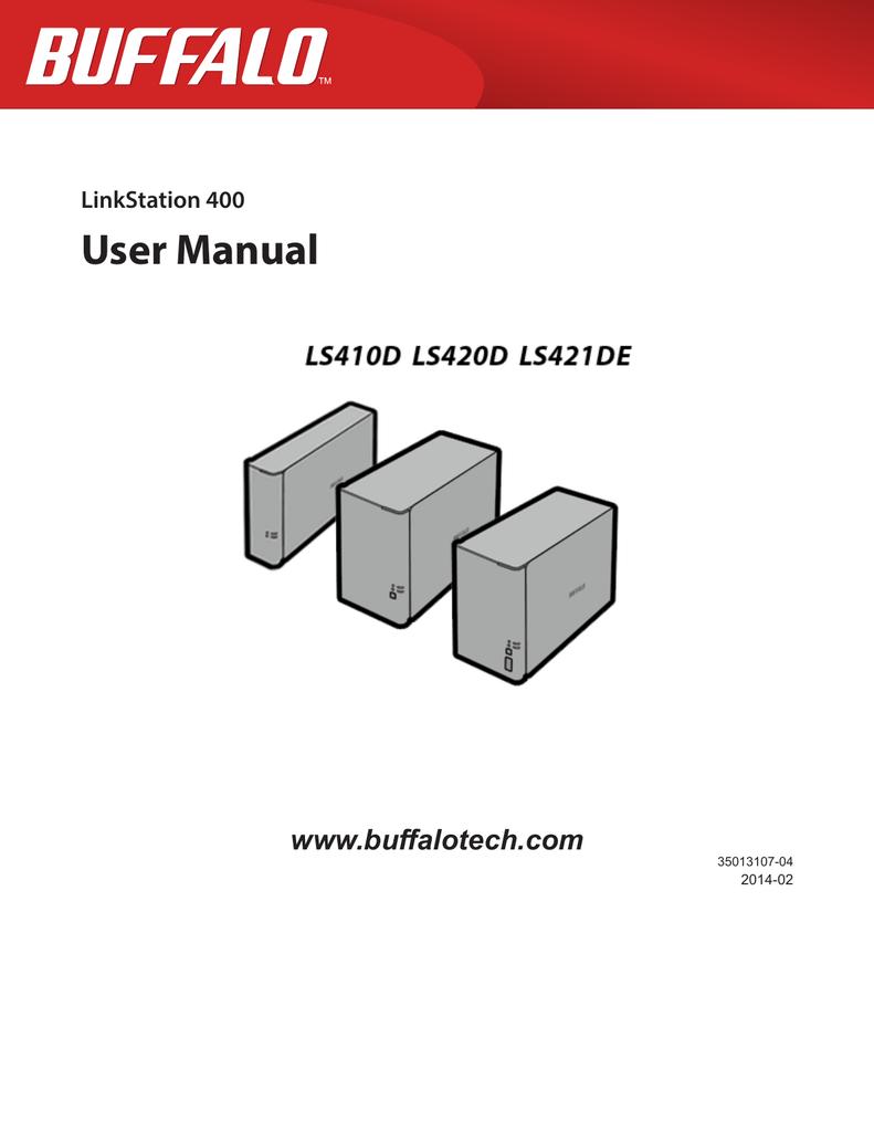 User manual linkstation pro and live models.