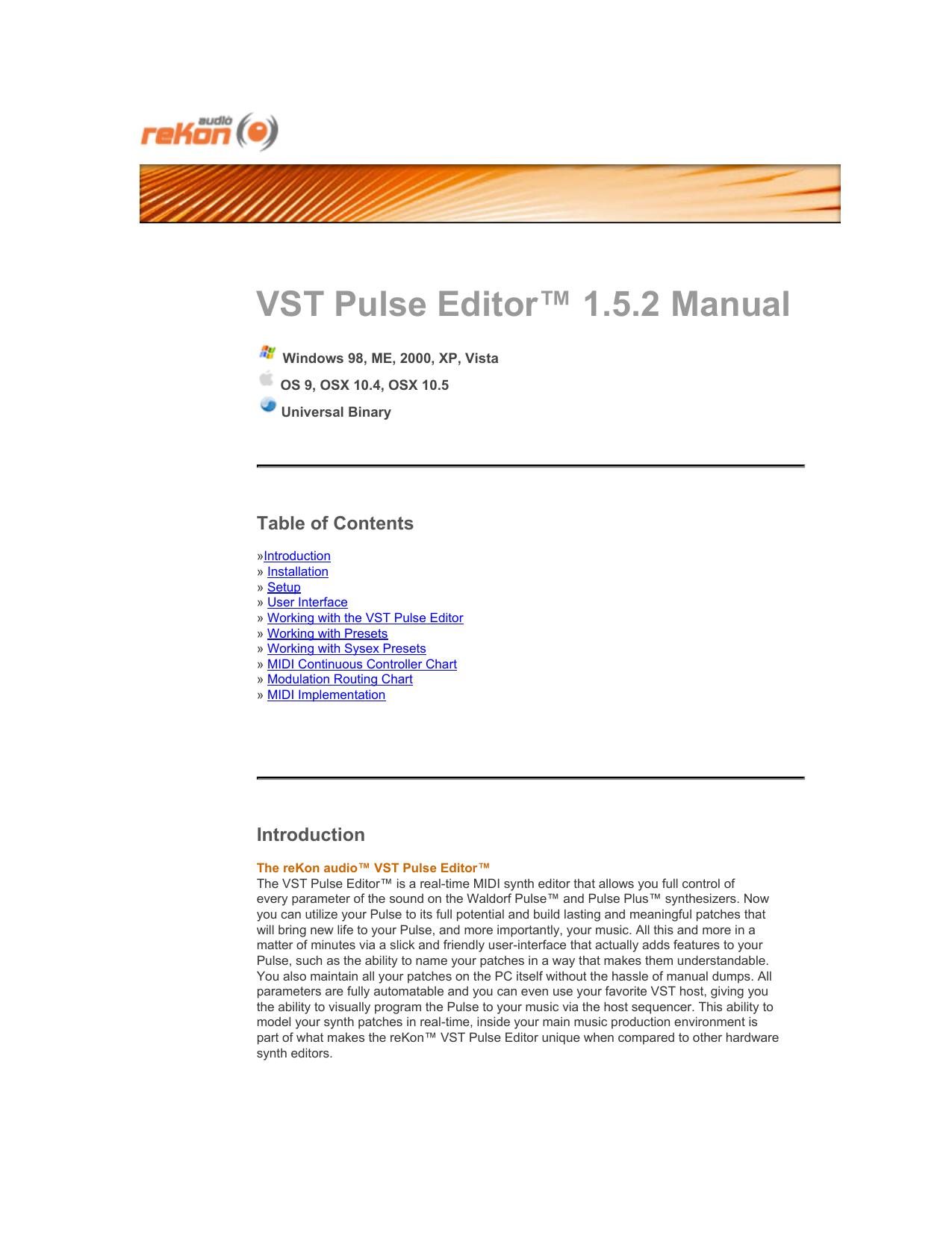 VST Pulse Editor™ 1 5 2 Manual | manualzz com