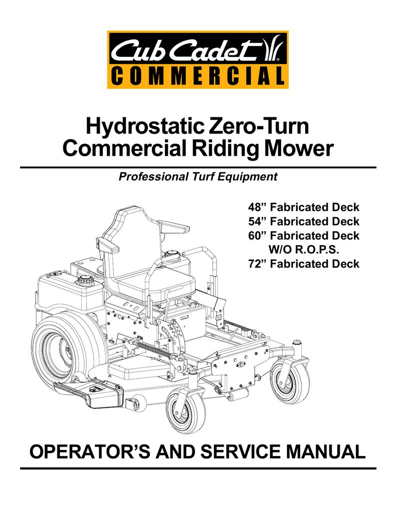 Cub Cadet TANK M48 Service manual | manualzz com