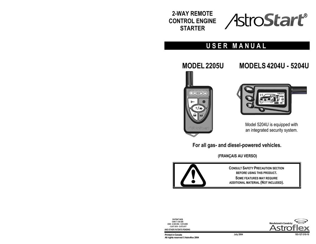 astrostart 4204u user manual manualzz com rh manualzz com AstroStart Remote Car Starters Astroflex Installation Manual