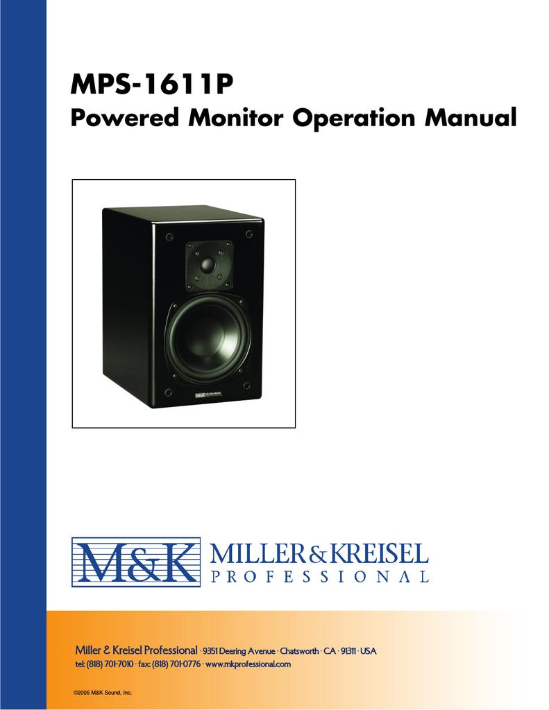 M/&K Miller /& Kreisel  Sound  Pro  LFE 4 5.1 Studio Bass Management Controller