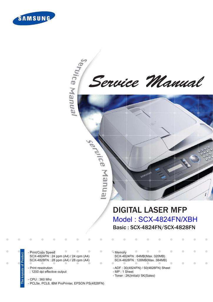 Samsung SCX 4828FN - Laser Multi-Function Printer Service