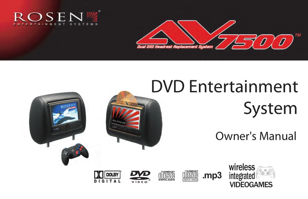 Rosen DVD Entertainment System Owner`s manual | manualzz.com on