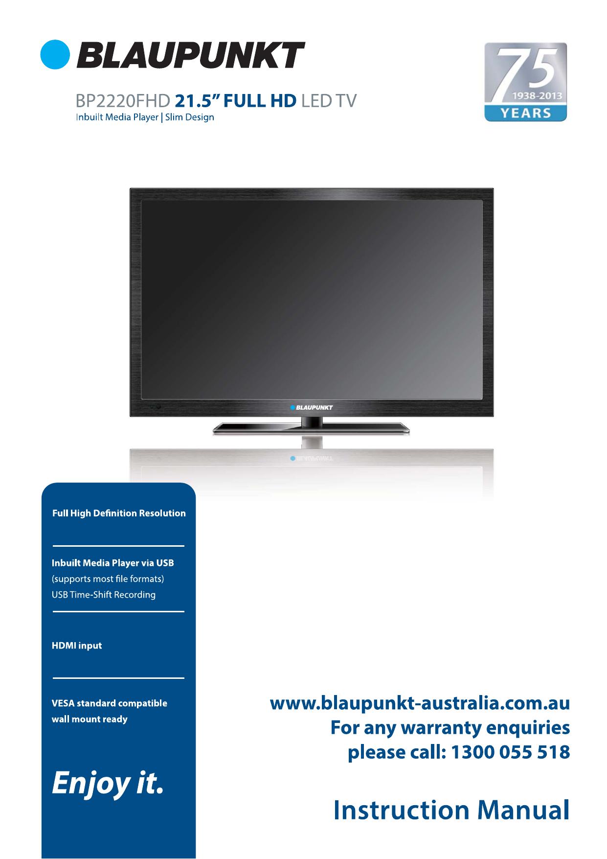 BP2220FHD - Blaupunkt Australia | manualzz com