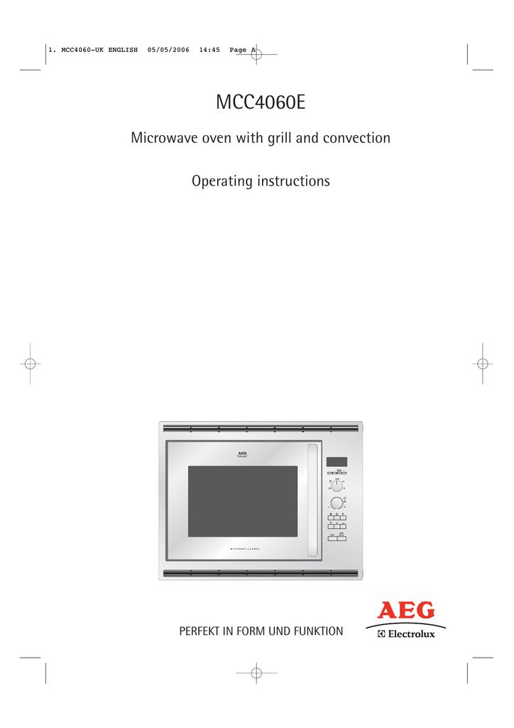 Aeg Electrolux Mcc4060e Operating Instructions Manualzz