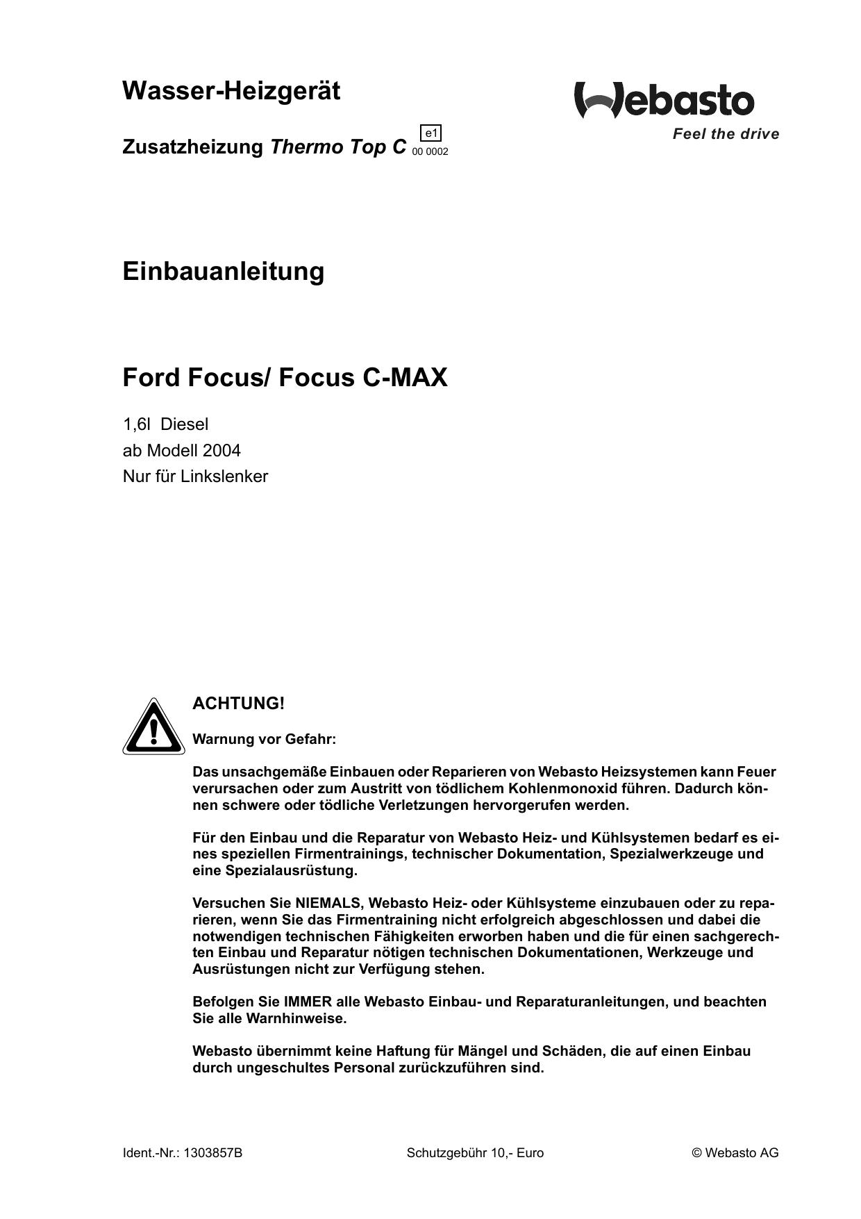 Großzügig 2001 Ford Focus Schaltplan Bilder - Elektrische Schaltplan ...