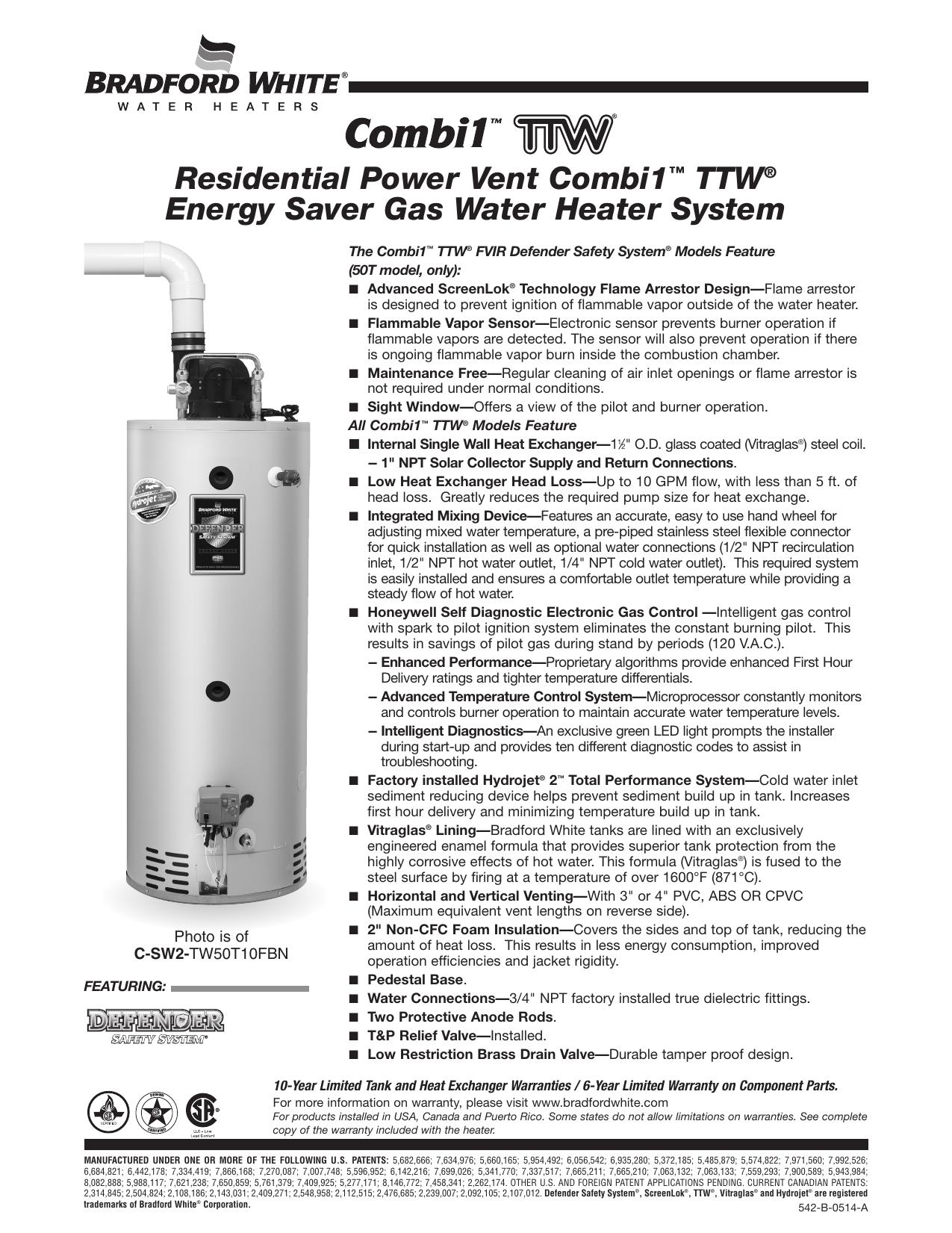 Bradford White Combi Cor Water Heater Model Csw2 A Manualzz