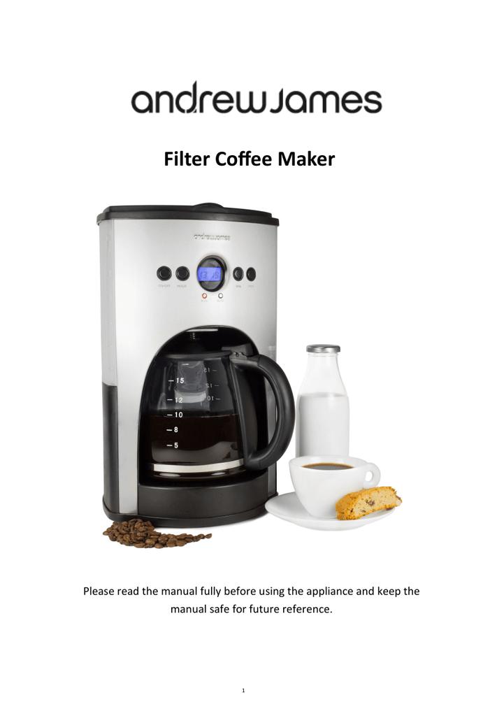 Automatic Coffee Filter Machine Manualzzcom