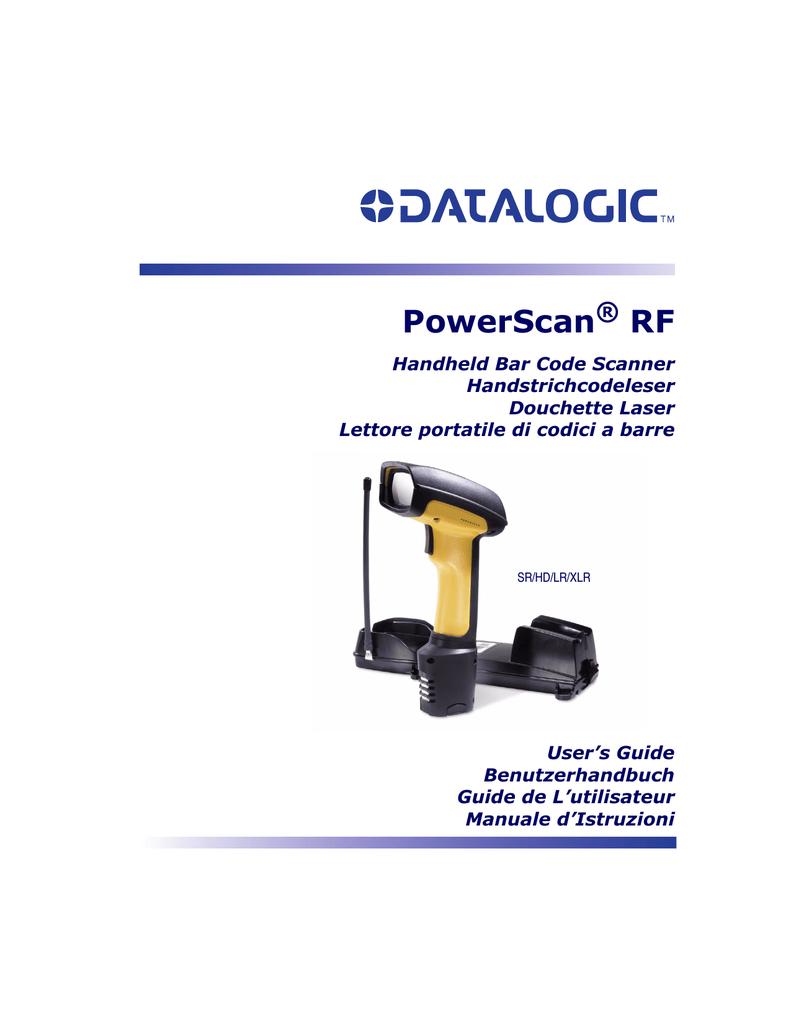 PSC PowerScanTM RF User`s guide | manualzz.com
