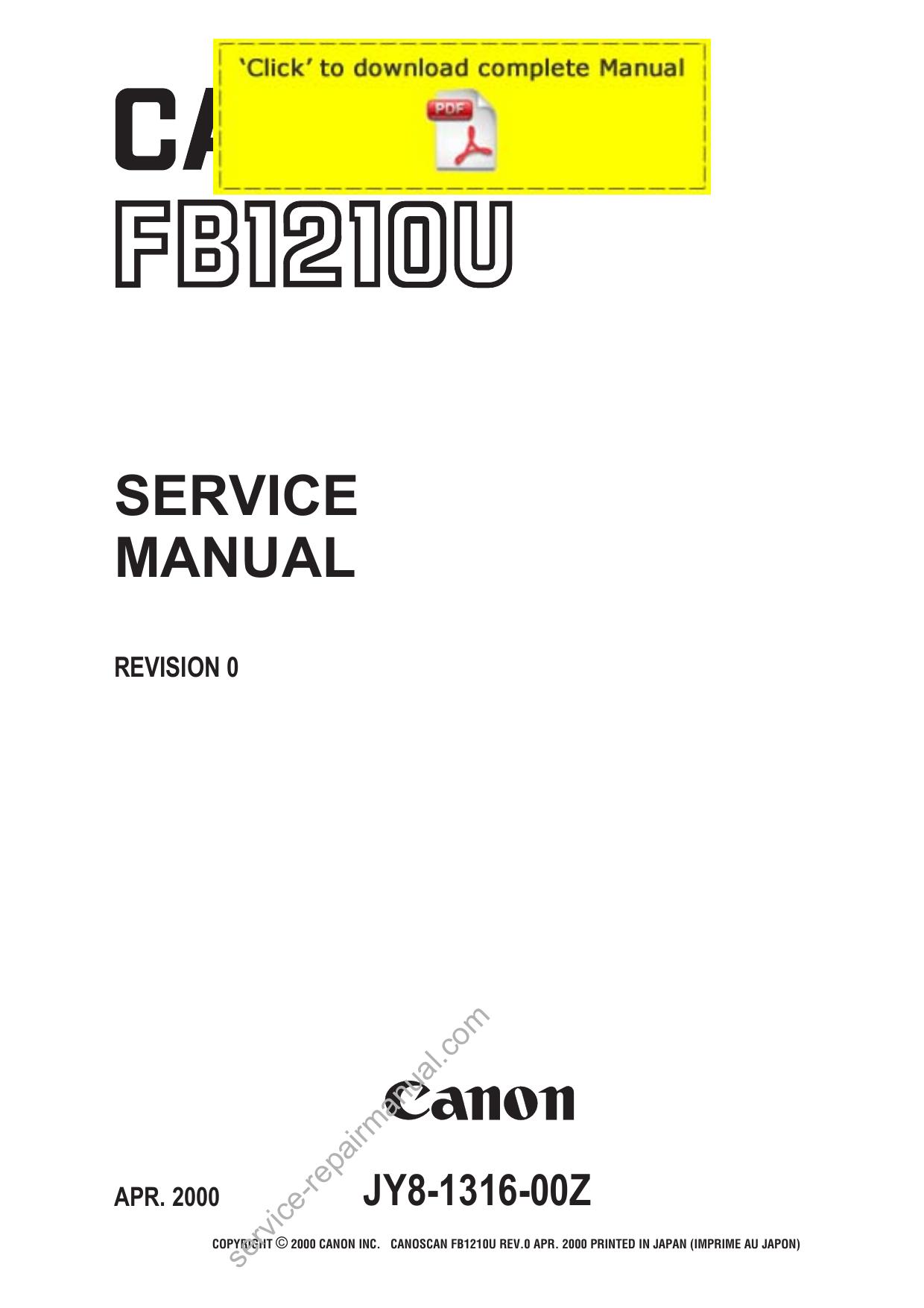 CANON CANOSCAN FB1210U WINDOWS 7 64BIT DRIVER DOWNLOAD