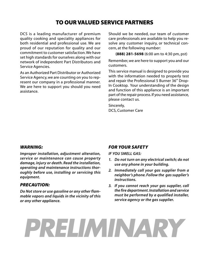 DCS CT-365SS Service manual | manualzz.com on