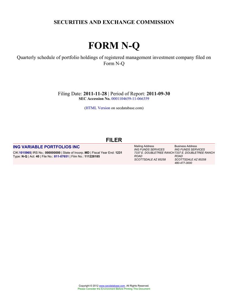 ing variable portfolios inc sec edgar filings search alert