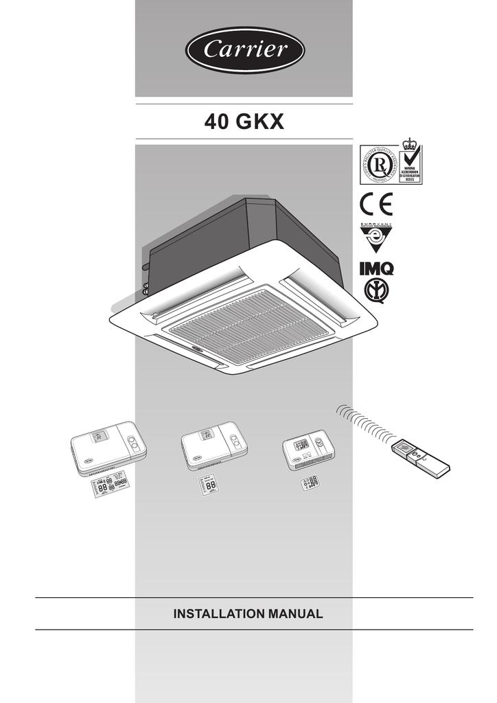 Carrier 40 GKX Installation manual | manualzz com