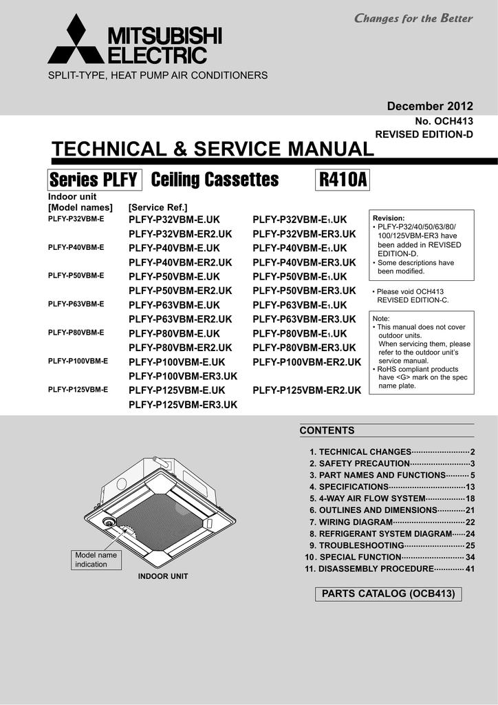 Mitsubishi City Multi Pkfy P Vbm E Service Manual Manualzz
