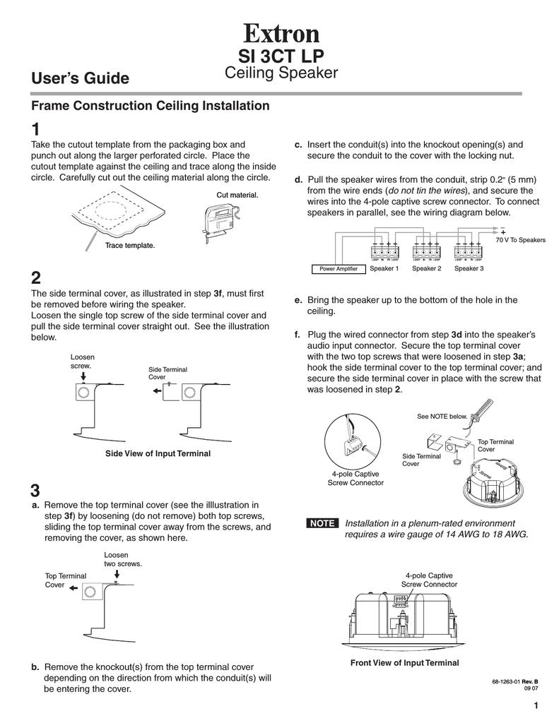 Si 3ct Lp Userguidepage1 Rev B Wiring In Parallel Speakers