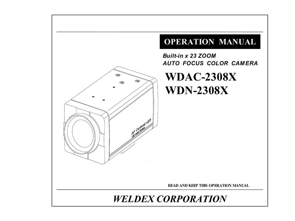 Weldex WDAC-2308X Series Instruction manual | manualzz.com on