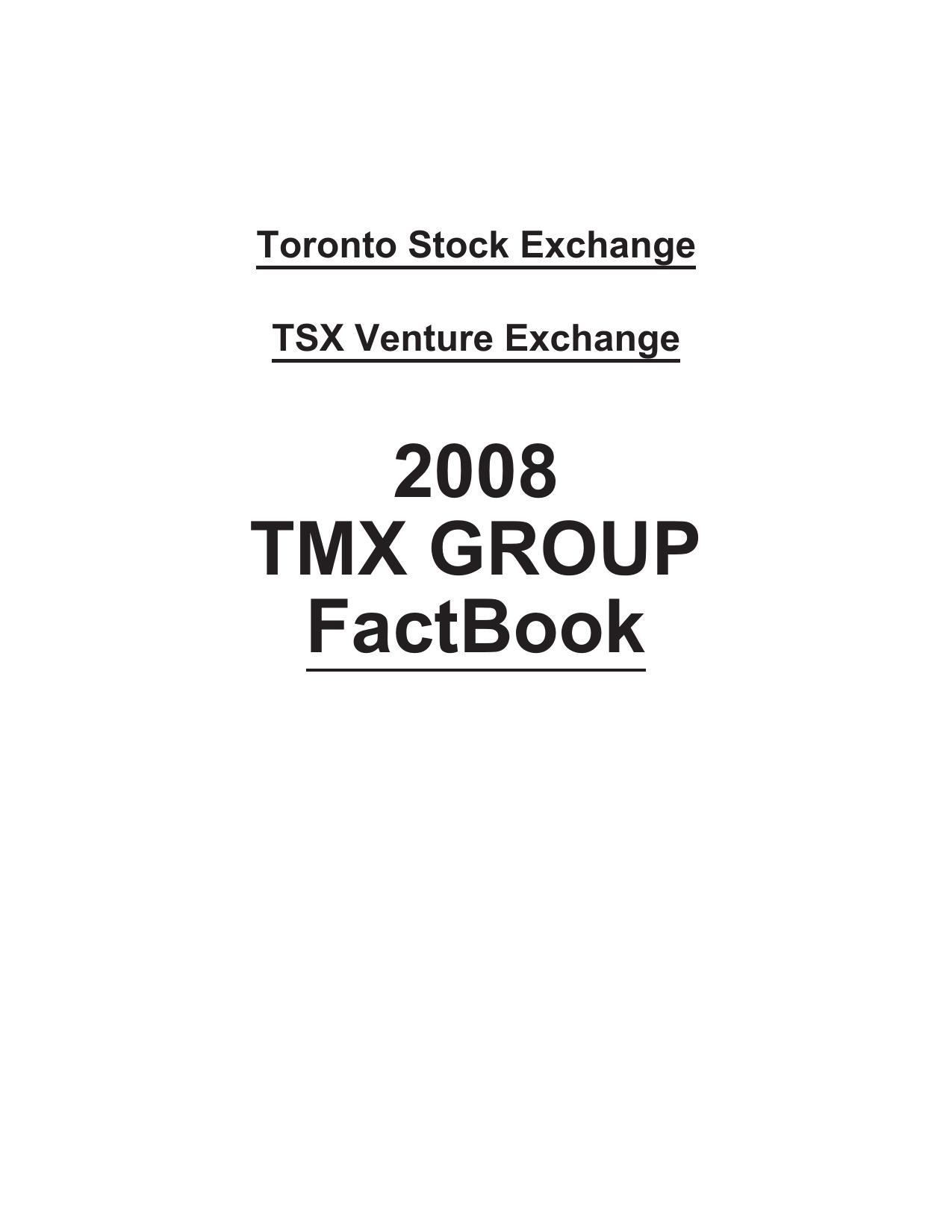2008 TMX GROUP FactBook   manualzz com
