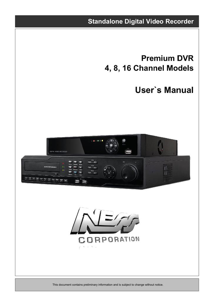 Eclipse Security 4 Channel Premium DVR User`s manual   manualzz com