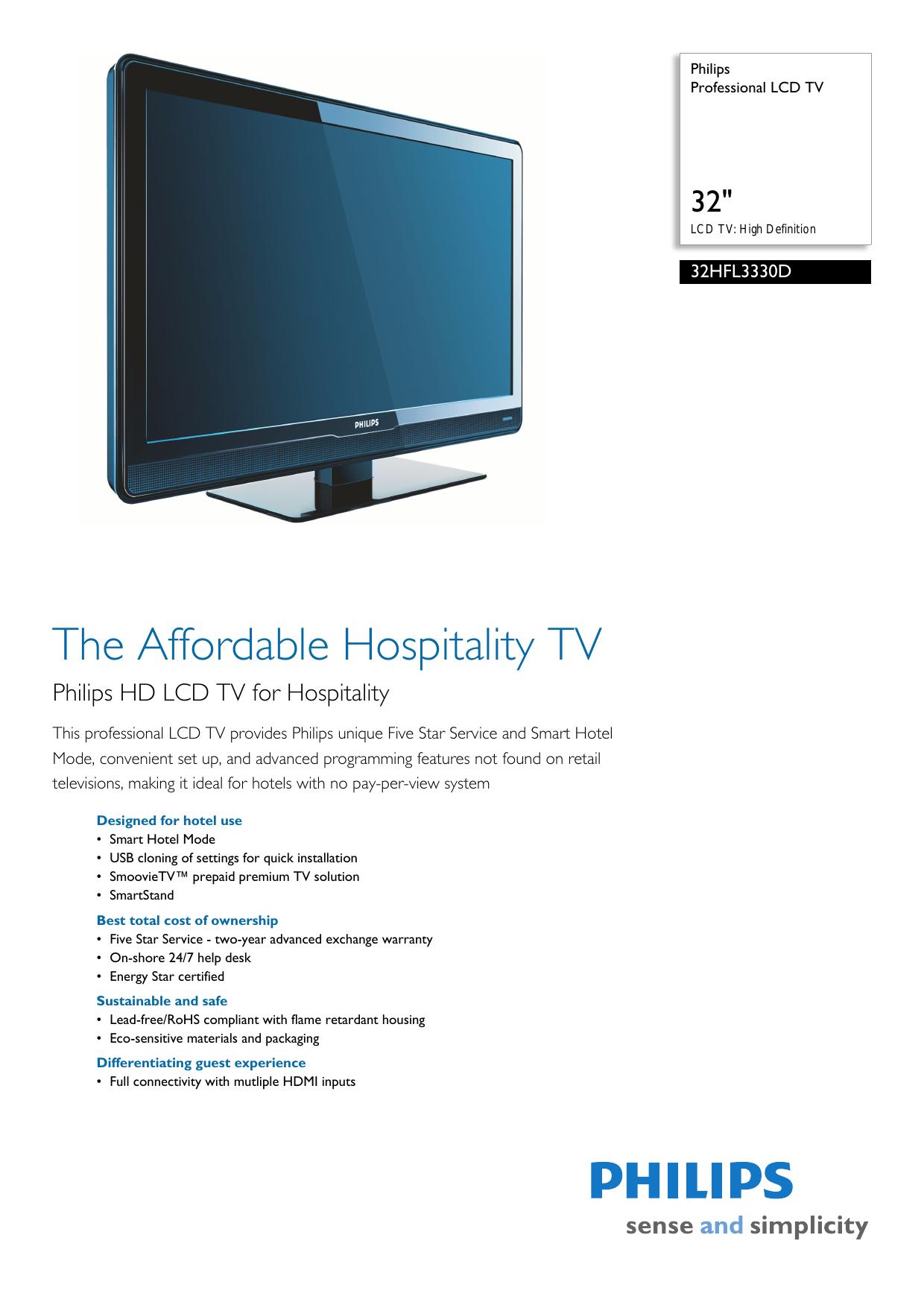 32HFL3330D/27 Philips Professional LCD TV   manualzz com