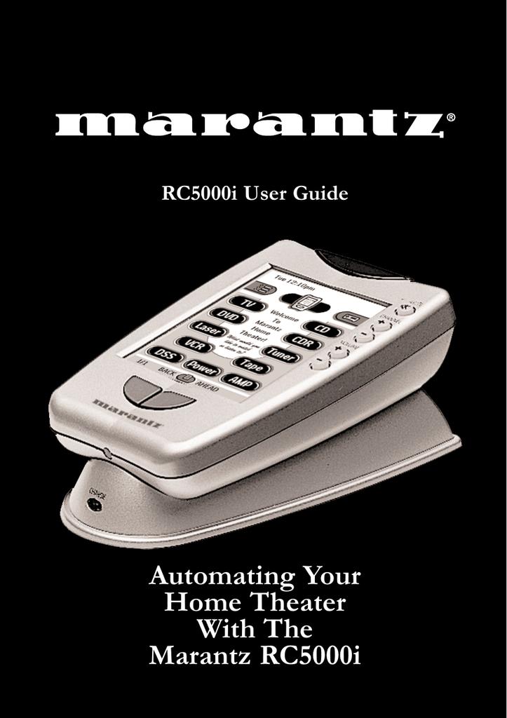 Marantz RC5000 User guide | manualzz com