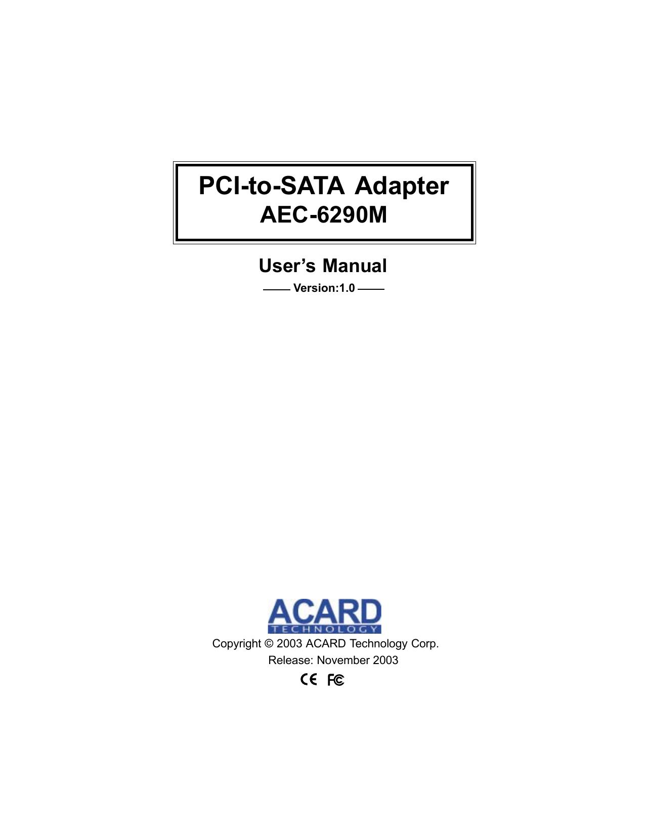 ACARD BIOS AEC-6290M DRIVER FOR PC