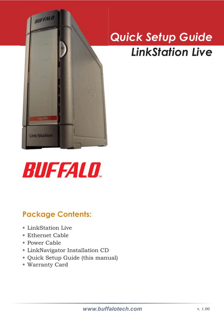 Buffalo nas linkstation live manual.
