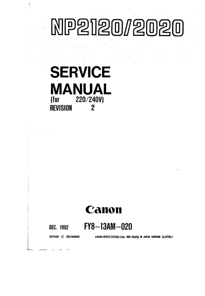 Del manual np1215 reparación manual