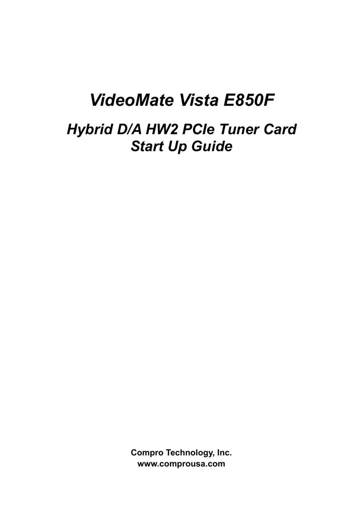 VideoMate Vista E850F Connectors
