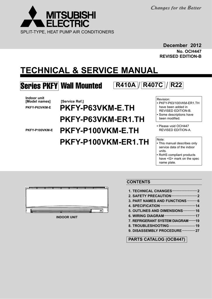 Mitsubishi Electric PKFY-P-VKM-E Service manual | manualzz com