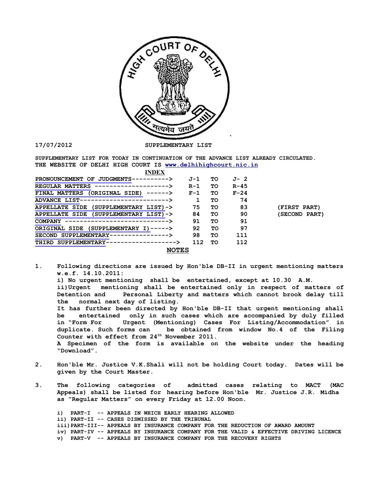 d7852e84 NOTES - Delhi High Court | manualzz.com