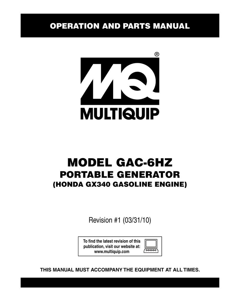 Multiquip Gac 6hz Specifications Gx340 Wiring Diagram