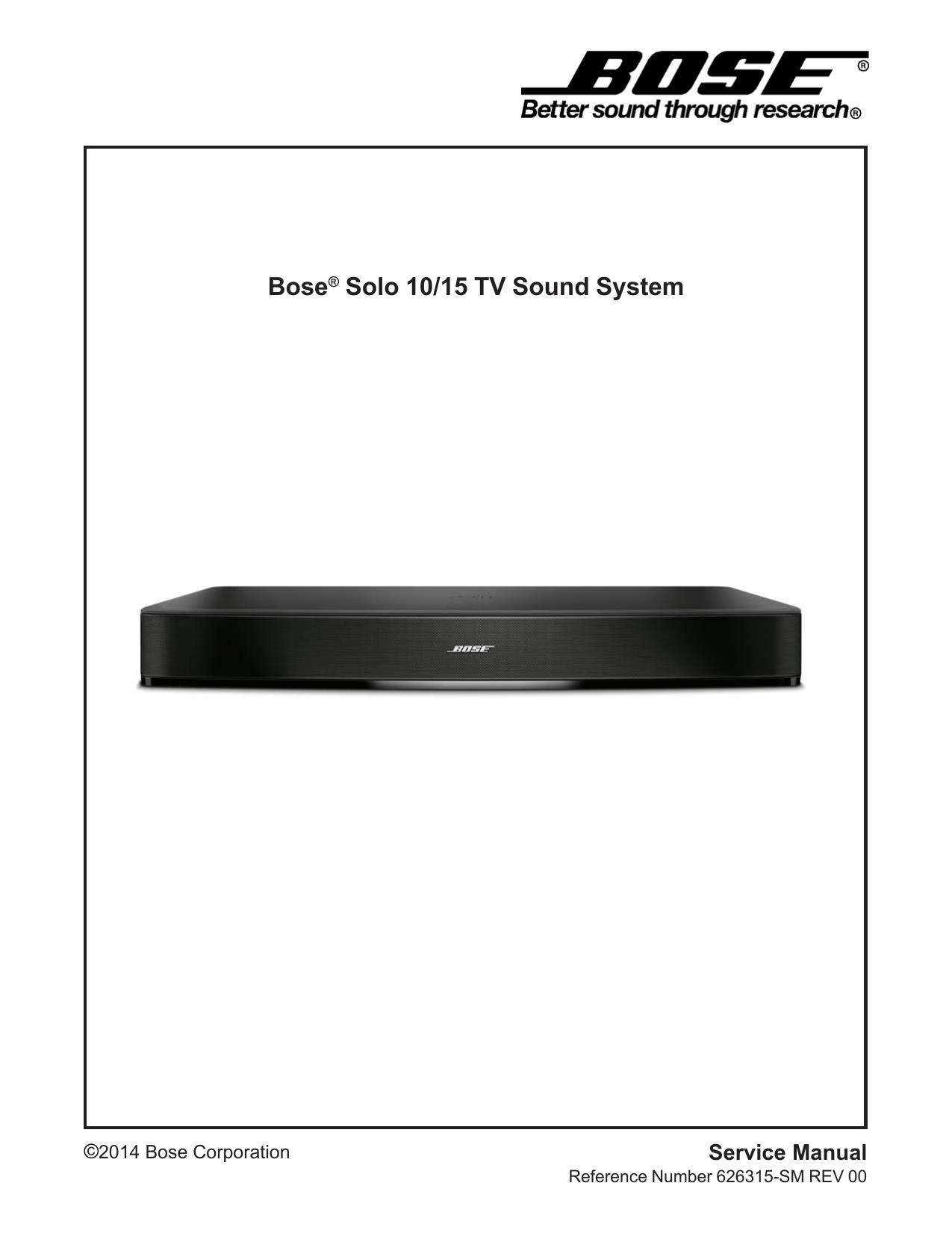 bose solo 10/15 service manual