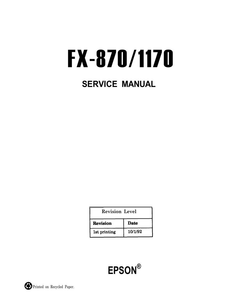 Epson lx-1170 epson.