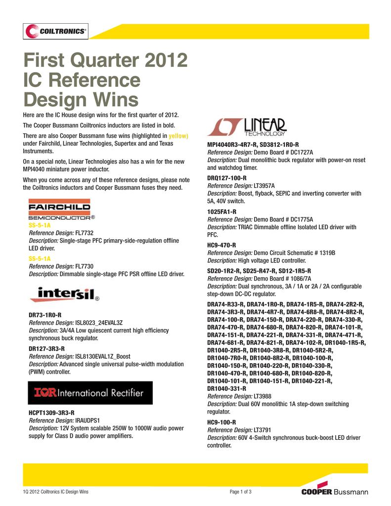First Quarter 2012 IC Reference Design Wins - Digi-Key | manualzz com