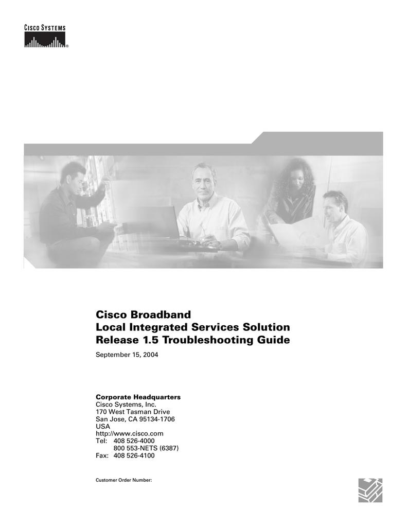 Cisco OL-4015-08 Troubleshooting guide | manualzz com