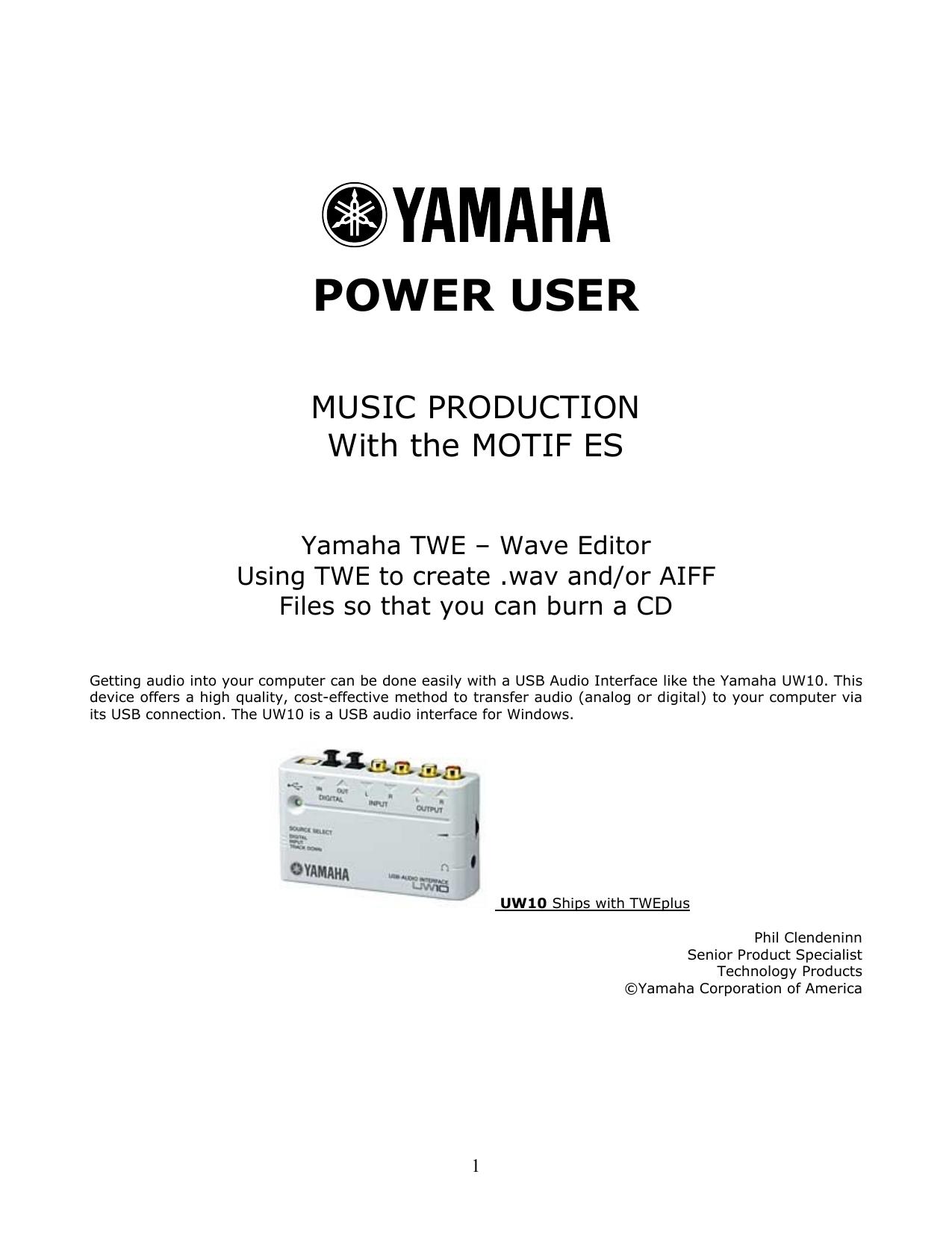 Yamaha TWE Wave Editor   manualzz com
