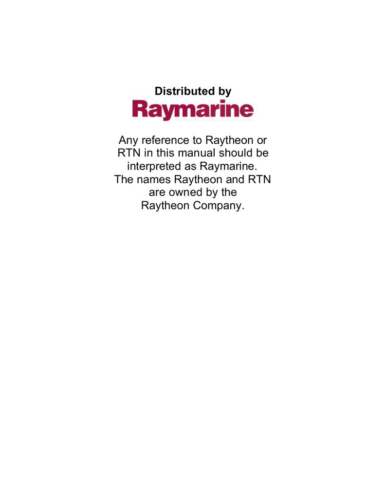 Raymarine Raystar 112 Installation guide | manualzz com