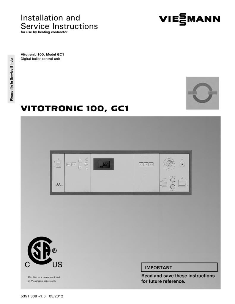 инструкция vitotronic 100 gc1