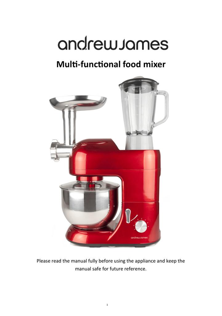 Andrew james 5. 2 l food mixer manuals.