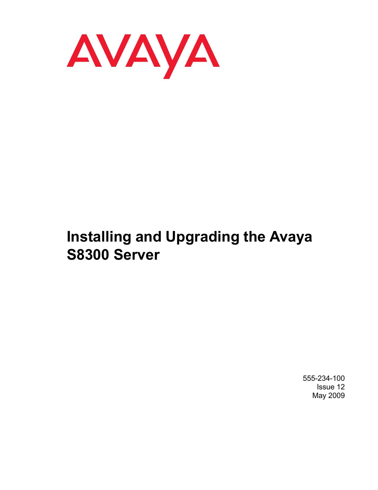 Installing and Upgrading the Avaya S8300 Server | manualzz com