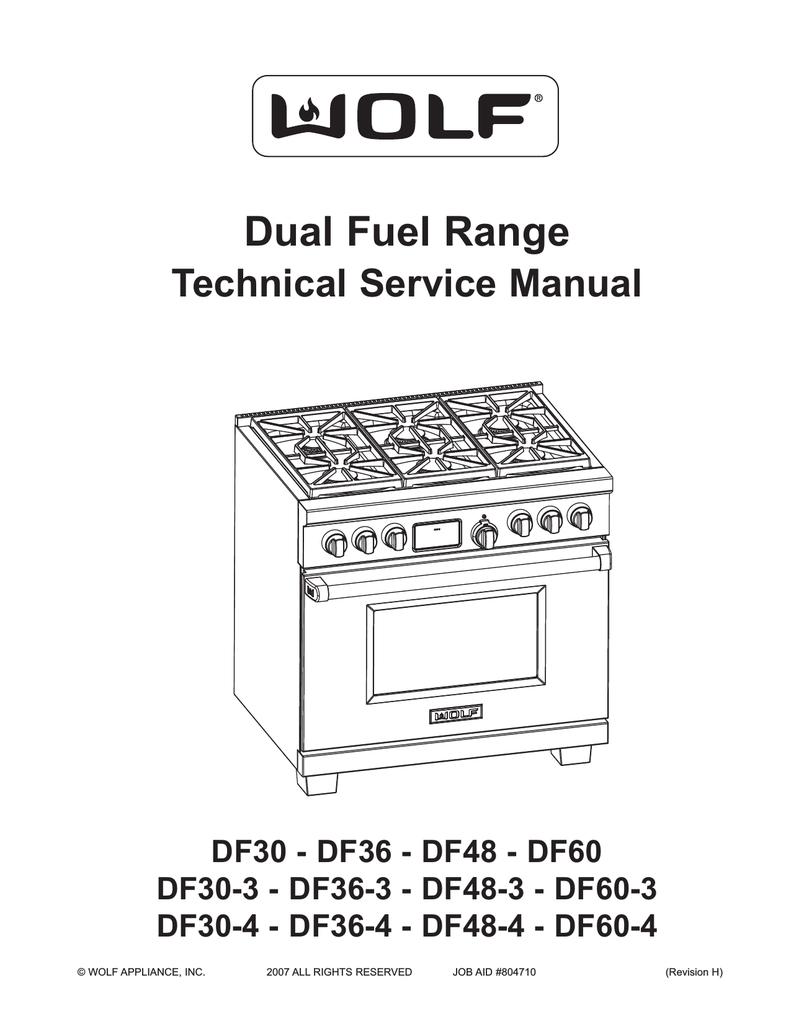 Wolf DF604CF Service manual   Manualzzmanualzz